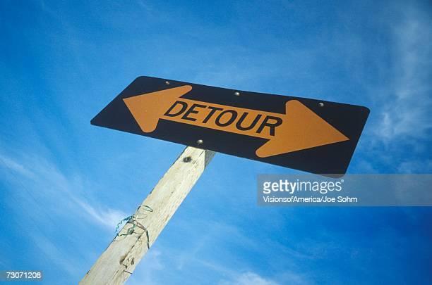 A sign that reads ?Detour?