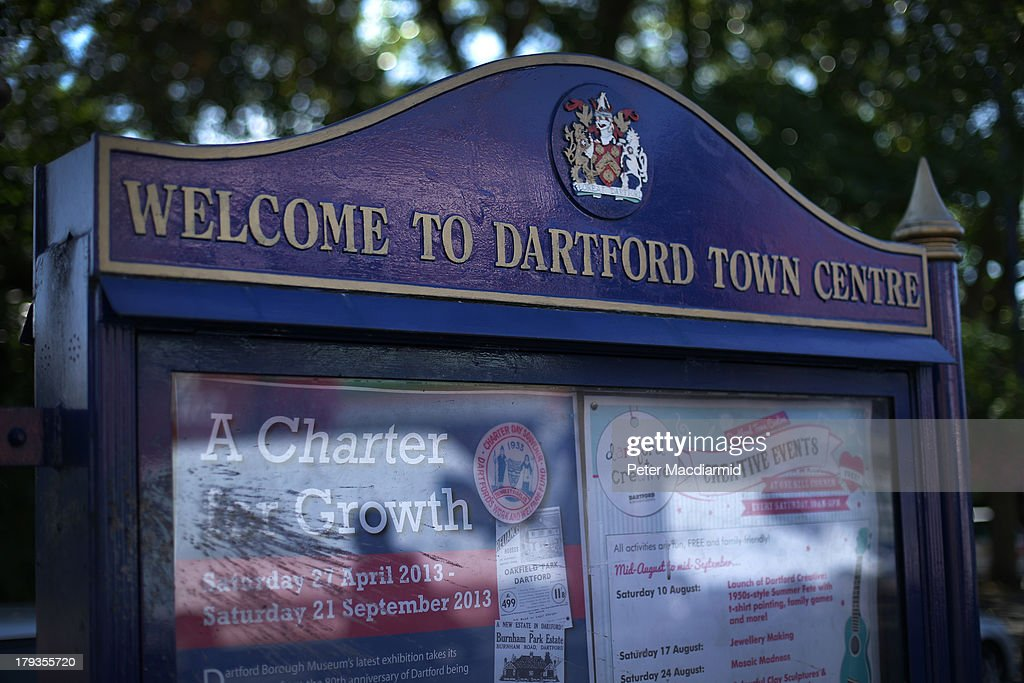 A sign welcomes visitors on September 2, 2013 in Dartford, England. High Street campaigner Mary Portas is today facing questions from Members of Parliament on the communities and local government select committee. The traditional high street is under increasing pressure due to the recession and the rise of on-line shopping.