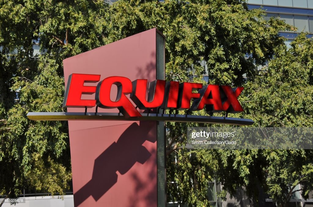 Sign with logo and a portion of the main building are visible at the headquarters of credit bureau Equifax in downtown Atlanta, Georgia, September 20, 2017. In September of 2017, a data breach at Equifax exposed the personal information of thousands of customers.