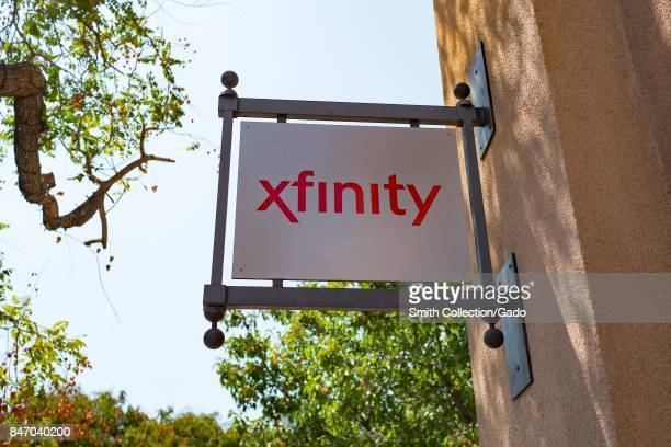 Sign with logo on the side of the Comcast Xfinity store in downtown Concord California September 8 2017
