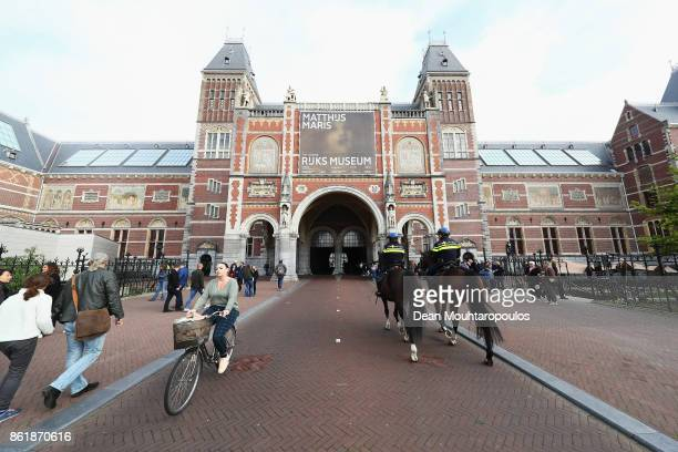 Signage advertising Matthijs Maris and Johan Maelwael special exhibition held at the Rijksmuseum Exhibition on October 13 2017 in Amsterdam...