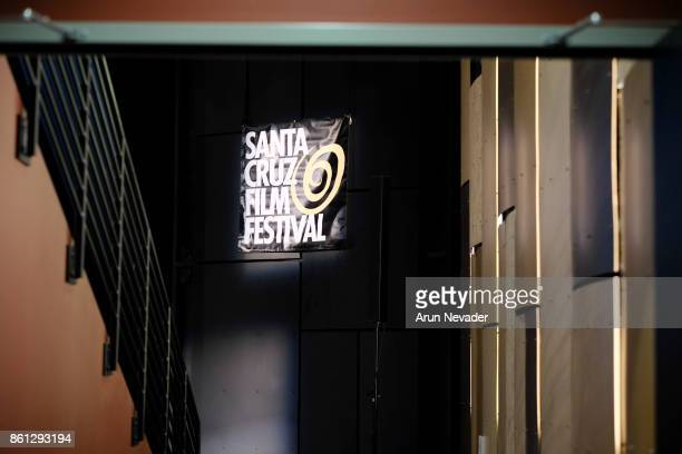 Signage and atmosphere at the Santa Cruz Film Festival at Tannery Arts Center on October 13 2017 in Santa Cruz California