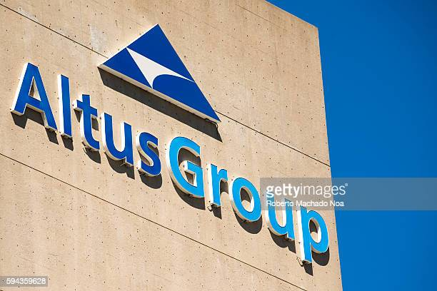 Signage and logo of AltusGroup on building in Toronto AltusGroup Inc is a national partnership of various companies to develop manufacture and market...