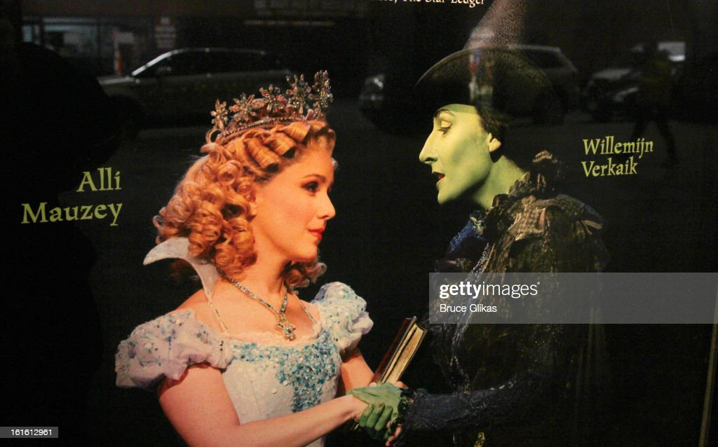 Signage as Willemijn Verkaik makes her Broadway Debut In 'Wicked' On Broadway at The Gershwin Theatre on February 12, 2013 in New York City.