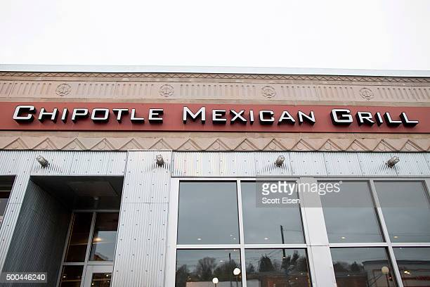 Signage at Chipotle Mexican Grill at 1924 Beacon St seen on December 8 2015 in Boston Massachusetts According to Boston College spokesman 80 students...