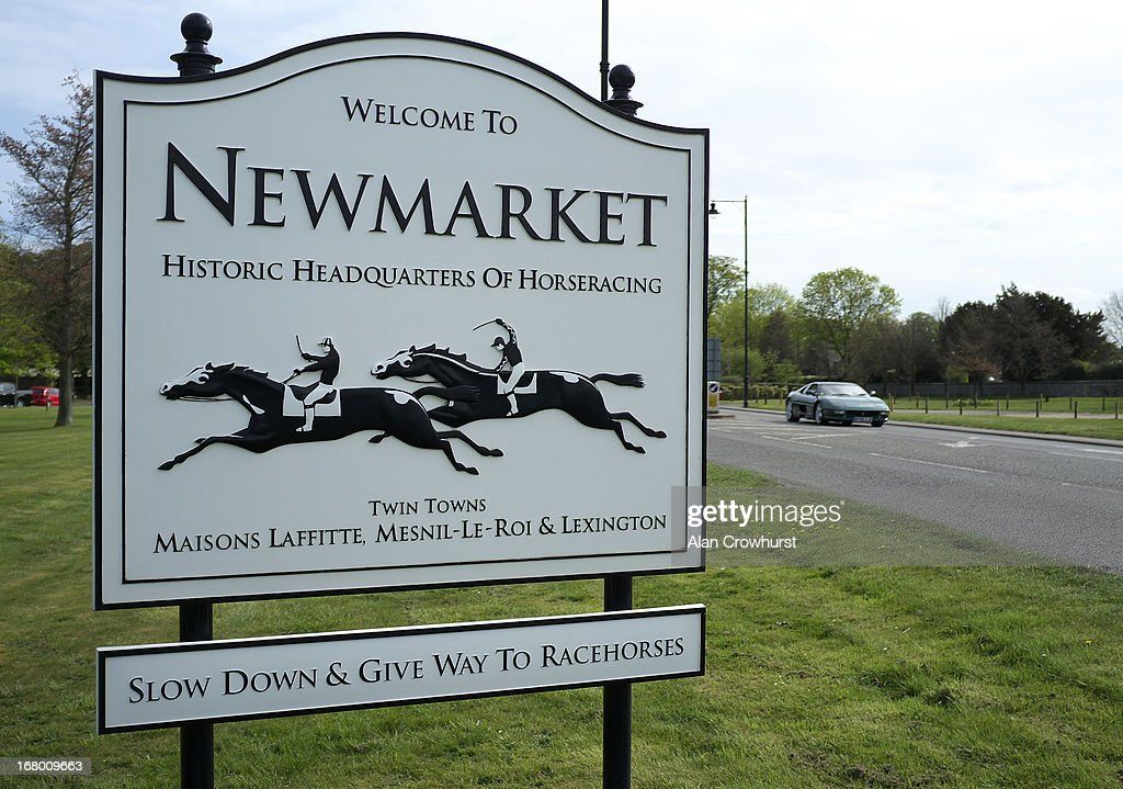 Signage at Newmarket racecourse on May 04, 2013 in Newmarket, England.