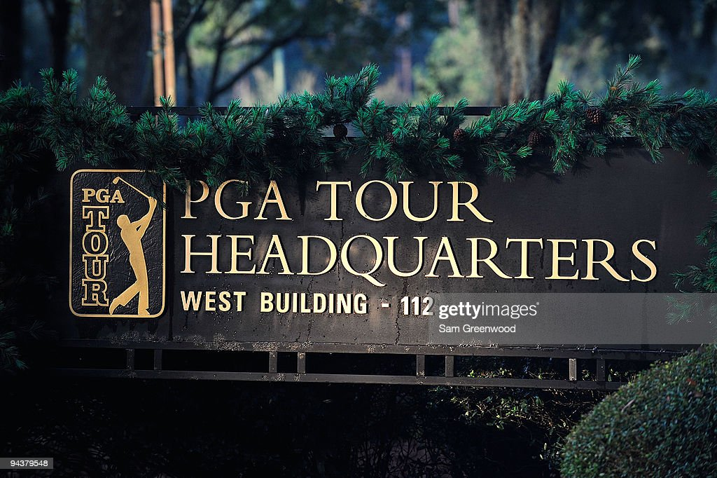 Signage at PGA Tour Headquarters on December 13, 2009 in Ponte Vedra Beach, Florida. Tiger Woods announced that he will take an indefinite break from professional golf to concentrate on repairing family relations after admitting to infidelity in his marriage. The PGA TOUR issued a statement supporting Woods' decision. The PGA TOUR issued a statement supporting Woods' decision.