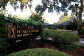 Signage at PGA Tour Headquarters on December 13 2009 in Ponte Vedra Beach Florida Tiger Woods announced that he will take an indefinite break from...