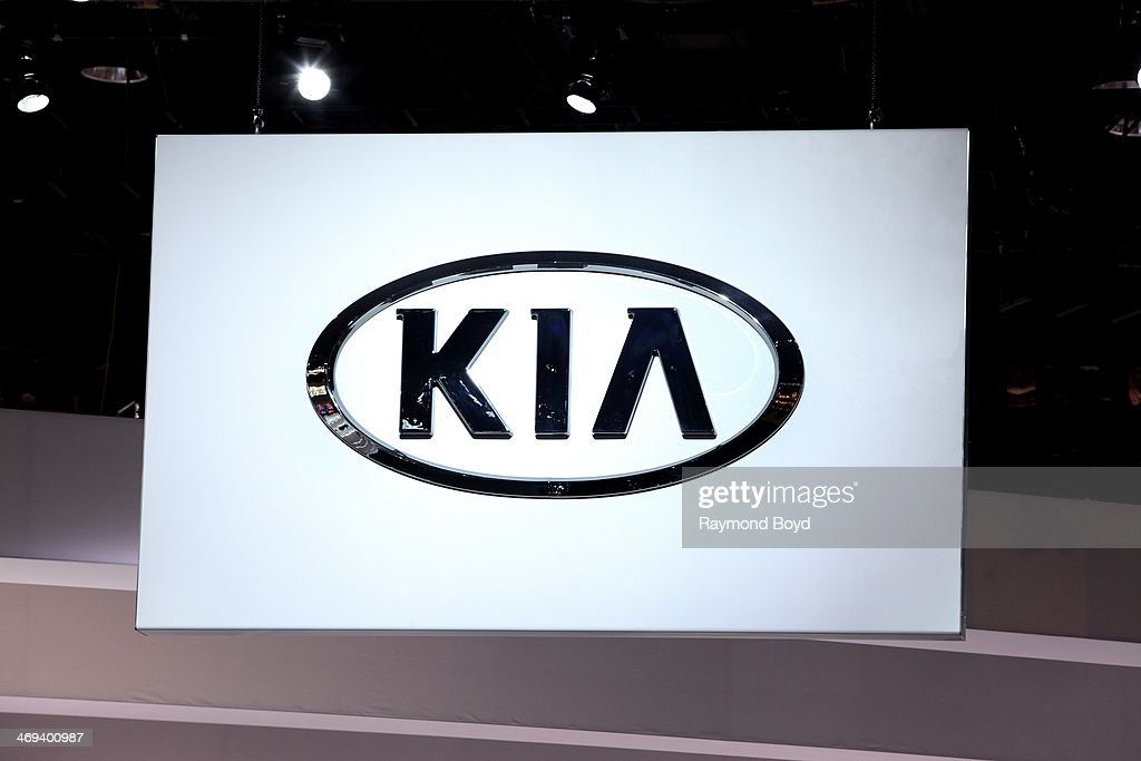 KIA signage at the 106th Annual Chicago Auto Show at McCormick Place in Chicago Illinois on FEBRUARY 07 2014
