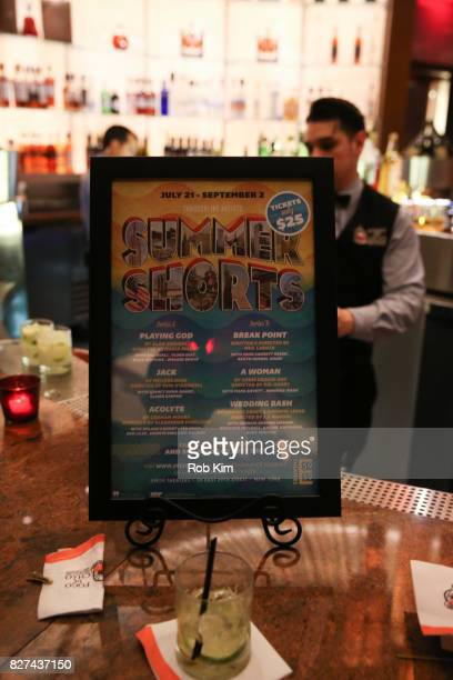 Signage at the OffBroadway opening night party for 'SUMMER SHORTS 2017' at Fogo de Chao Churrascaria on August 7 2017 in New York City