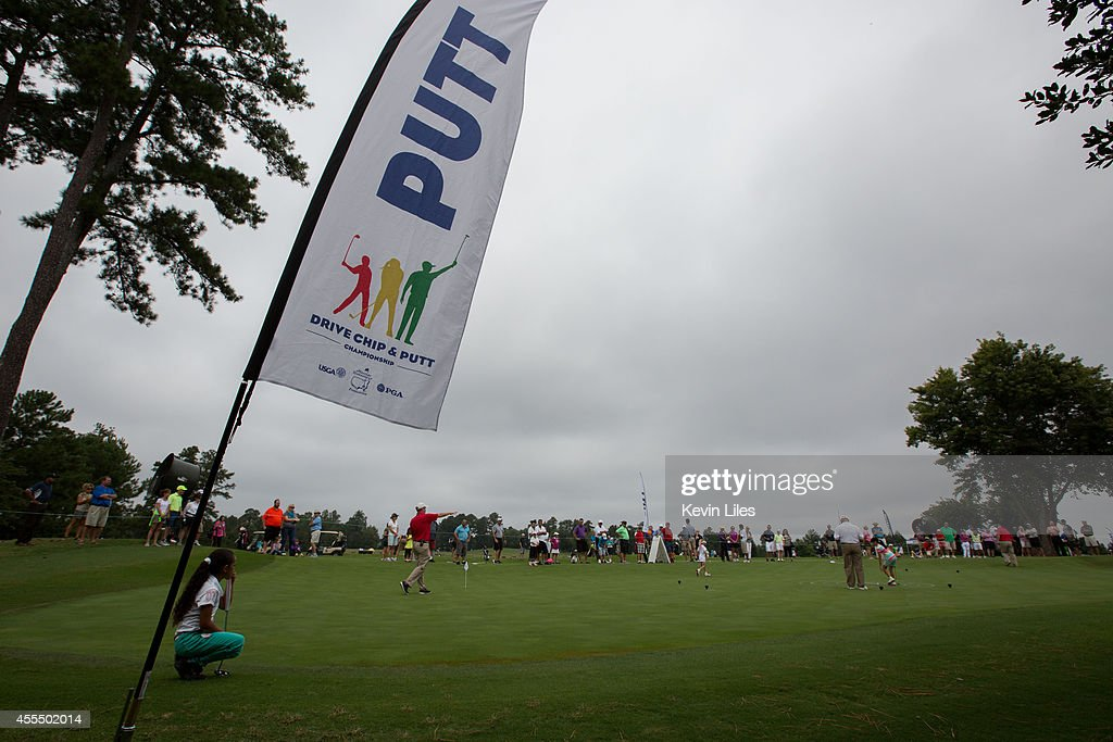 Signage at the regional round of the The Drive Chip and Putt Championship at TPC Sugarloaf on September 15 2014 in Duluth Georgia
