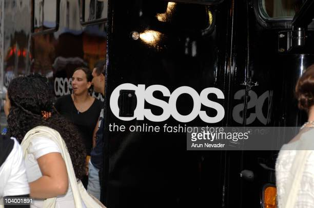 ASOS signage displayed at the Teen Vogue celebration of Fashion's Night Out at West Village Bleecker Street on September 10 2010 in New York City