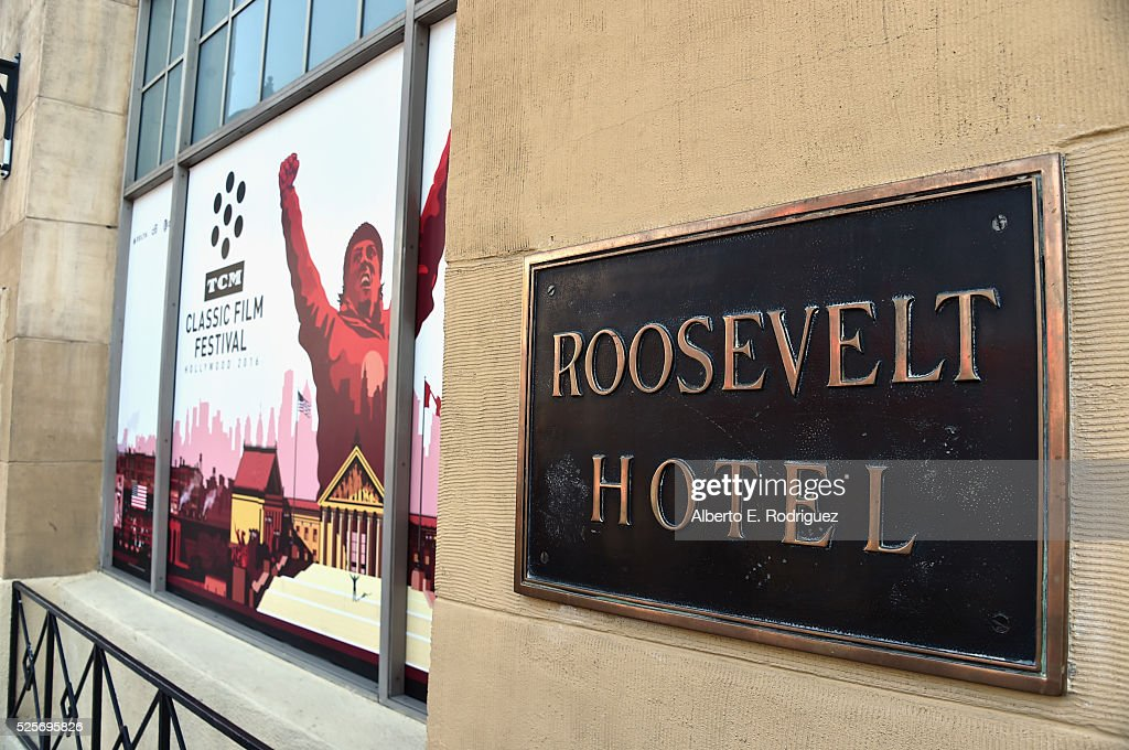 TCM signage during day 1 of the TCM Classic Film Festival 2016 on April 28, 2016 in Los Angeles, California. 25826_006