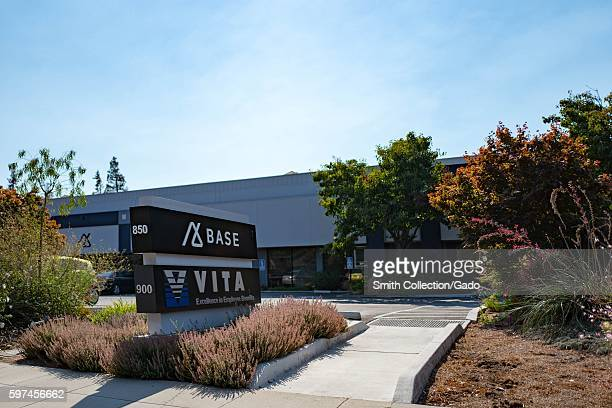 Signage for Customer Relationship Management software company Base and human resources management software company Vita in the Silicon Valley town of...