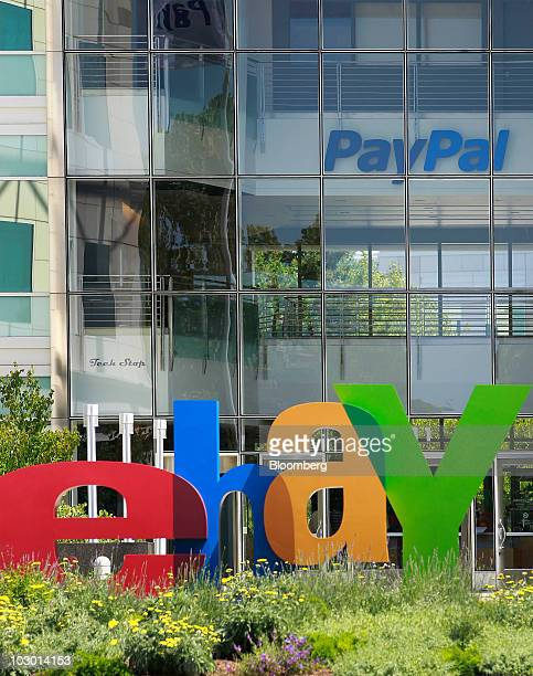 Signage for EBay Inc and its PayPal unit are pictured at company headquarters in San Jose California US on Tuesday July 20 2010 EBay Inc the...