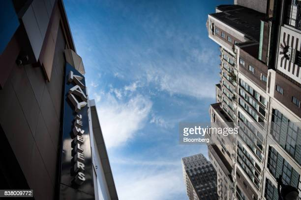 Signage for Kay Jewelers a subsidiary of Signet Jewelers Ltd is displayed on the exterior of a store in New York US on Wednesday Aug 23 2017 Signet...
