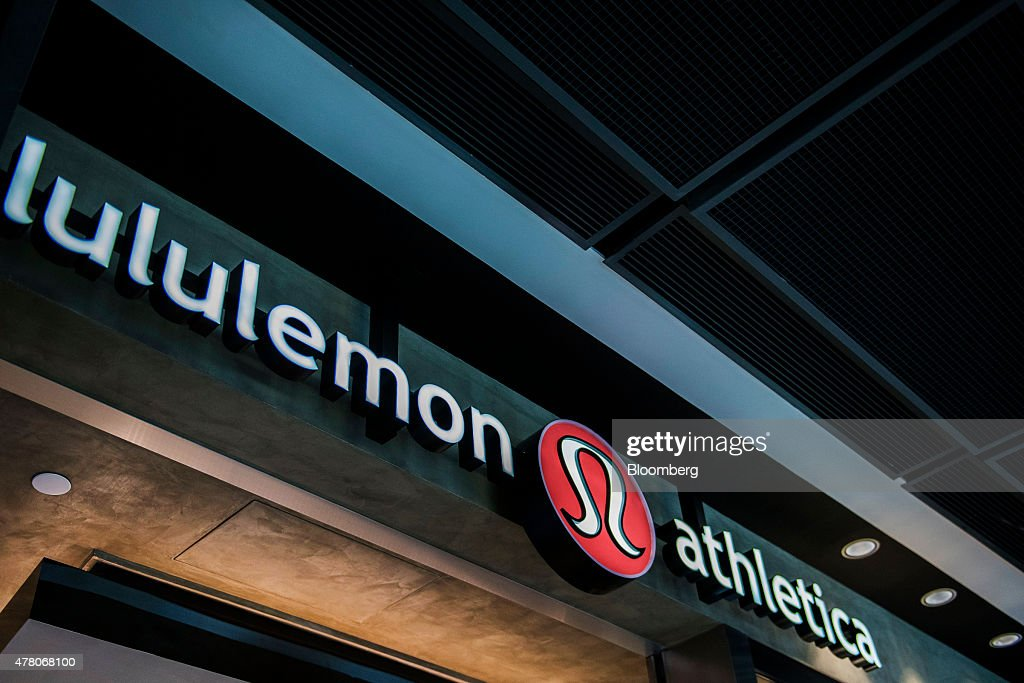 Signage for Lululemon Athletica Inc is displayed at the company's store at the International Finance Centre mall in Hong Kong China on Monday June 22...