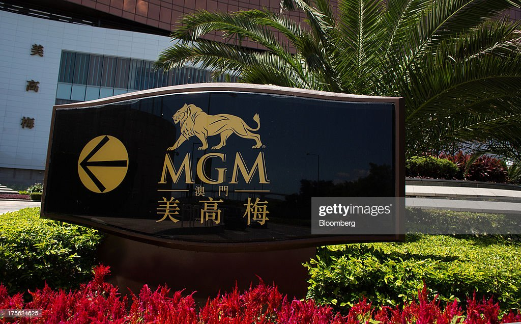 Signage for MGM Macau, operated by MGM China Holdings Ltd., is displayed outside the casino resort in Macau, China, on Sunday, Aug. 4, 2013. MGM China Holdings is scheduled to release second quarter results on Aug. 6. Photographer: Lam Yik Fei/Bloomberg via Getty Images