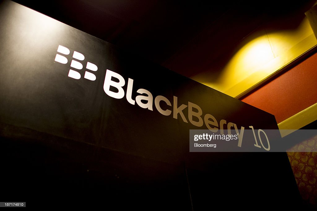 Signage for the Research In Motion Ltd. (RIM) BlackBerry Jam Asia developer conference is displayed in Bangkok, Thailand, on Thursday, Nov. 29, 2012. RIM gained after Goldman Sachs Group Inc. upgraded the stock to buy, saying the new BlackBerry 10 phones could help it return to profitability in fiscal 2014. Photographer: Brent Lewin/Bloomberg via Getty Images