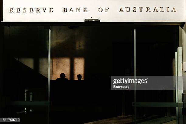 Signage for the Reserve Bank of Australia is displayed at the entrance to the central bank's headquarters in Sydney Australia on Monday July 4 2016...