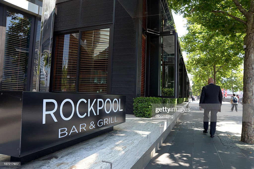 Signage for the Rockpool Bar and Grill is displayed outside the restaurant in Melbourne, Australia, on Wednesday, Nov. 28, 2012. The Australian Bureau of Statistics is expected to release November inflation data on Dec. 3. Photographer: Carla Gottgens/Bloomberg via Getty Images