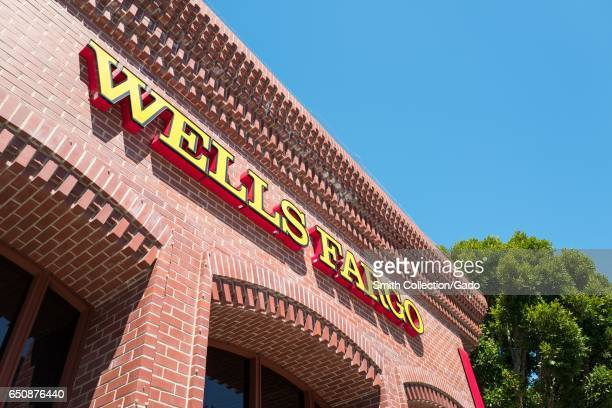 Signage for Wells Fargo bank branch in the Cow Hollow neighborhood of San Francisco California August 28 2016