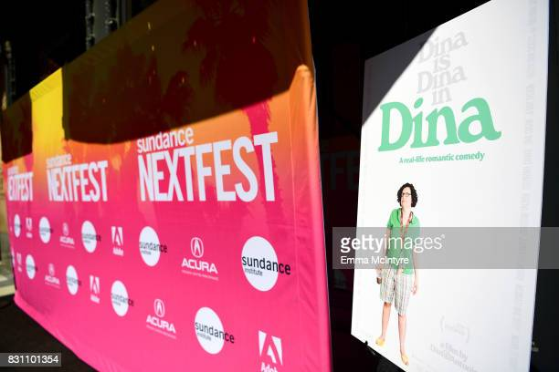 Signage from the film 'Dina' at 2017 Sundance NEXT FEST at The Theater at The Ace Hotel on August 13 2017 in Los Angeles California