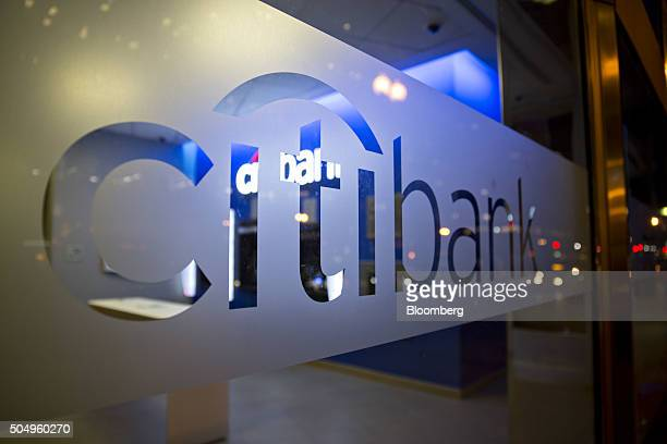 Signage is displayed at a Citigroup Inc Citibank branch in Washington DC US on Thursday Jan 7 2016 Citigroup Inc is expected to report fourthquarter...