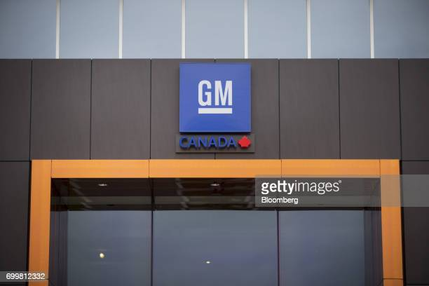 Signage is displayed at the General Motors Co Canadian Technical Centre in Markham Ontario Canada on Thursday June 22 2017 Canadian auto sales surged...