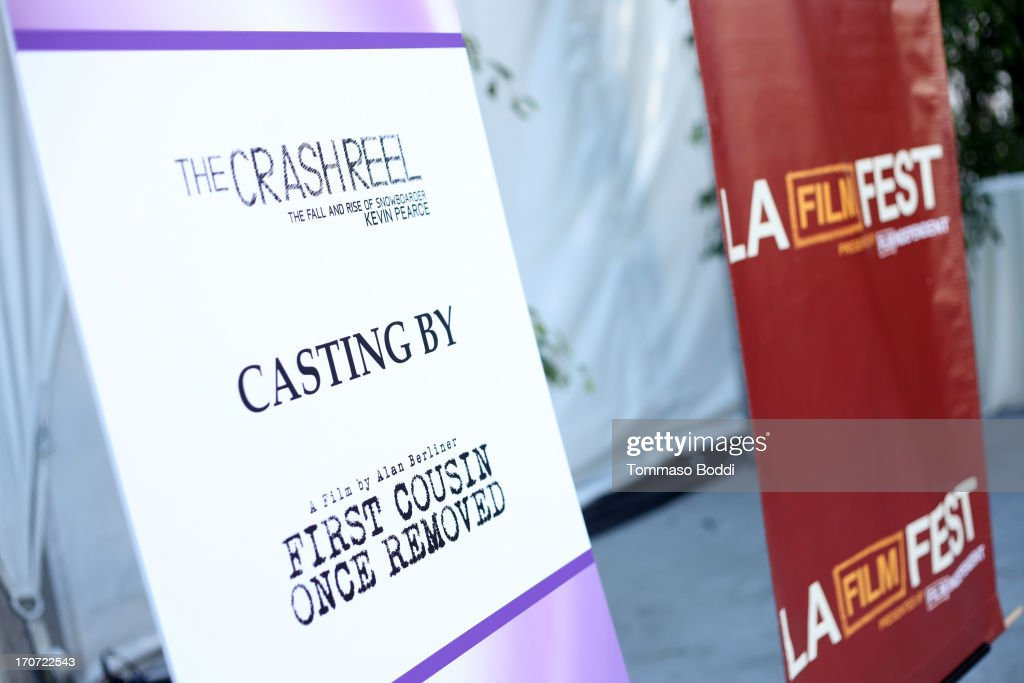 Signage is displayed at the HBO Docs Reception during the 2013 Los Angeles Film Festival at L.A. Live Event Deck on June 16, 2013 in Los Angeles, California.
