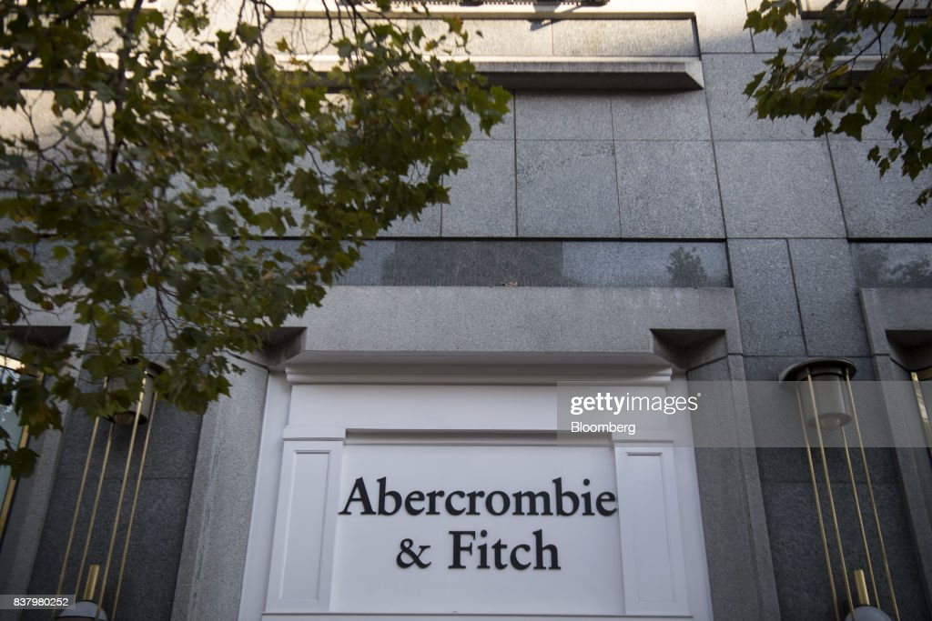 Signage is displayed on the exterior of an Abercrombie & Fitch Co. store in San Francisco, California, U.S., on Tuesday, Aug. 22, 2017. Abercrombie & Fitch Co. is scheduled to release earnings figures on August 24. Photographer: David Paul Morris/Bloomberg via Getty Images