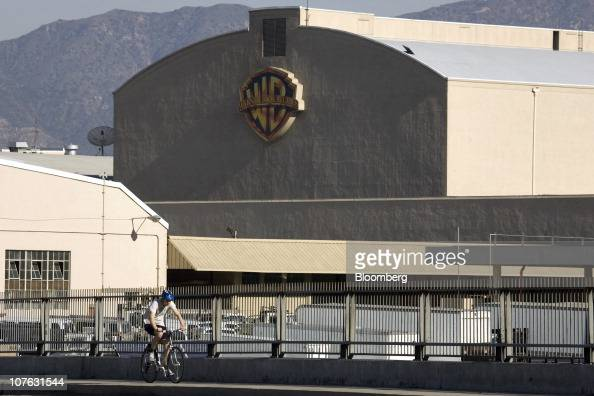 Signage is displayed on the Warner Bros Entertainment Inc Studios building in Burbank California US on Saturday Dec 11 2010 Sales for Hollywood...
