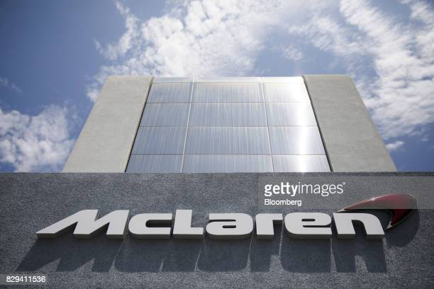 Signage is displayed outside the McLaren Newport Beach dealership in Newport Beach California US on Tuesday July 25 2017 While offering more...