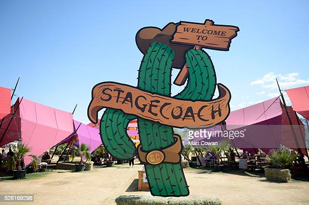 Signage is seen during 2016 Stagecoach California's Country Music Festival at Empire Polo Club on April 29 2016 in Indio California