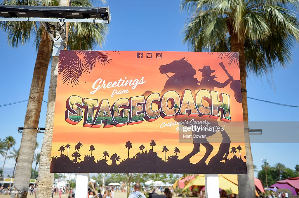 Signage is seen during 2016 Stagecoach California's Country Music Festival at Empire Polo Club on April 29, 2016 in Indio, California.