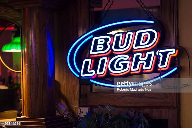Signage of Bud light outside a bar in New York City United States Bud Light is Budweiser's flagship light beer with 42% ABV The brand is owned by...