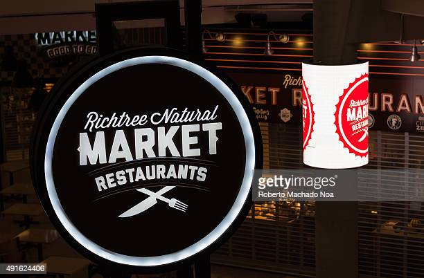 Signage of Richtree Natural Market restaurants at its outlet in Toronto The logo has a crossed knife and fork Richtree Market is a Canadian...