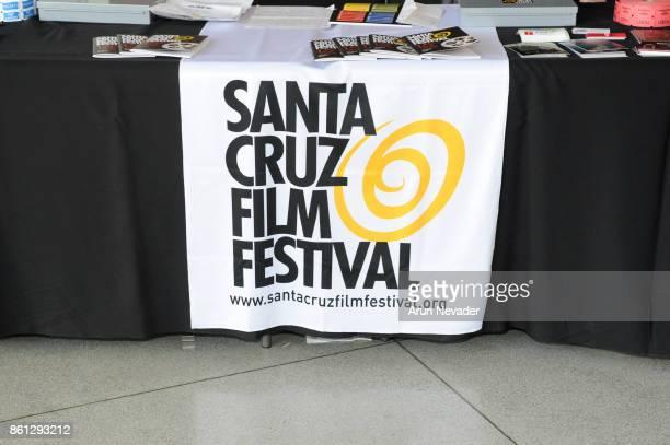 Signage on display for the Santa Cruz Film Festival at Tannery Arts Center on October 13 2017 in Santa Cruz California
