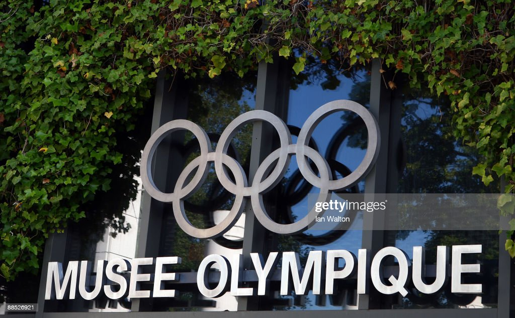 Signage on the exterior of the Olympic Museum on June 17 2009 in Lausanne Switzerland