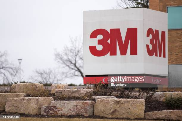 Signage stands outside 3M Co headquarters in St Paul Minnesota US on Wednesday March 9 2016 3M the maker of Postit notes and Scotch tape generates...