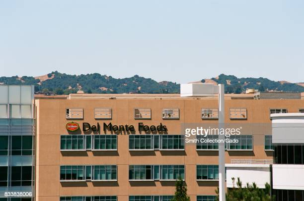 Signage with logo at the East Bay regional headquarters of canned goods company Del Monte Foods in Walnut Creek California July 26 2017