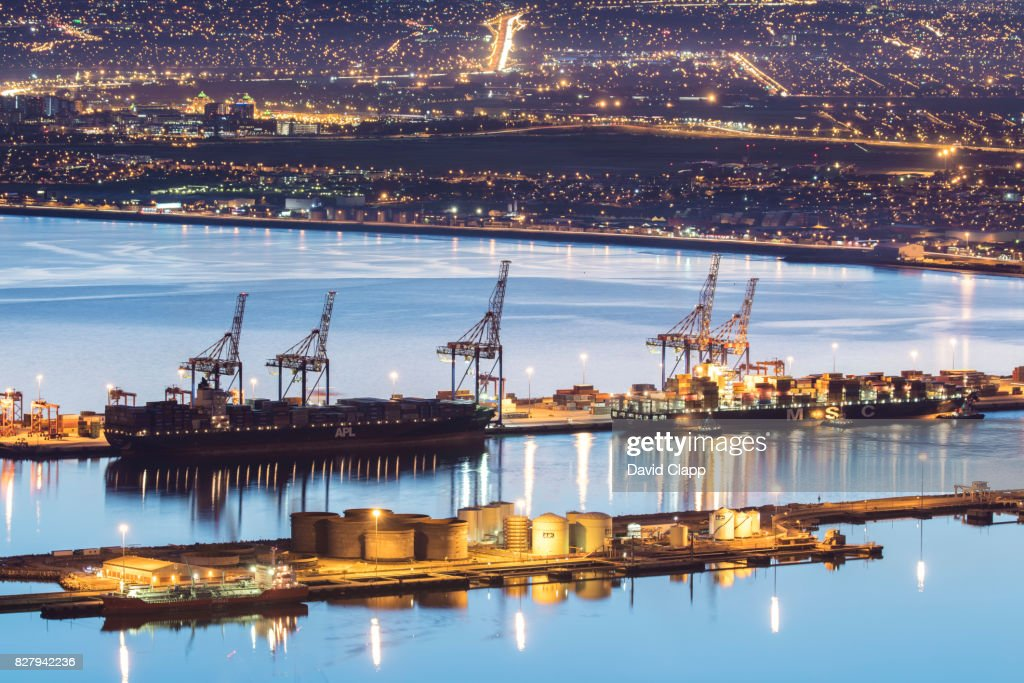 Signal Hill View Of The Port Of Cape Town In South Africa : Stock Photo