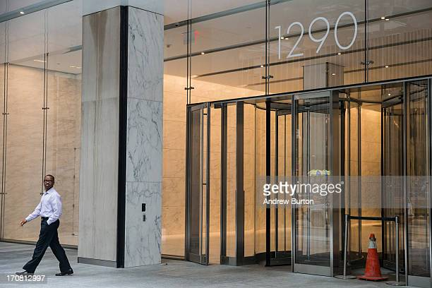 Signate for the building at 1290 Sixth Avenue also known as 'Avenue of the Americas' is seen on June 18 2013 in New York City The prices for office...