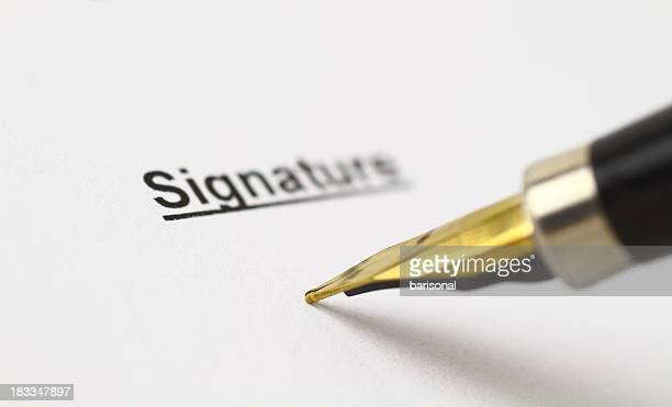 Signature area