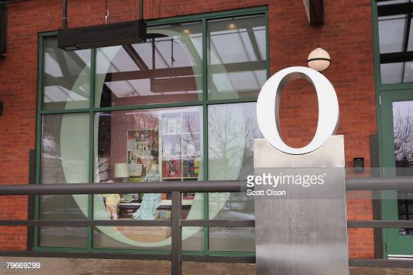 A signature 'O' marks the location of The Oprah Store the first freestanding retail store for Oprah Winfrey's Harpo Inc February 8 2008 in Chicago...