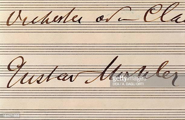 Signature of the composer Gustav Mahler Vienna Gesellschaft Der Musikfreunde
