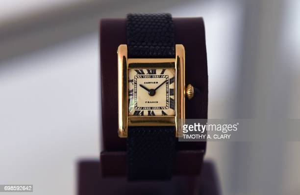 A Signed Cartier Tank Model Manufactured in 1962 belonging to Jacqueline Kennedy Onassis dubbed the 'The Jacqueline Kennedy Onassis Cartier Tank' is...