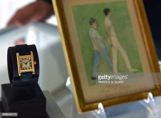 A Signed Cartier Tank Model Manufactured in 1962 belonging to Jacqueline Kennedy Onassis dubbed the 'The Jacqueline Kennedy Onassis Cartier Tank' and...
