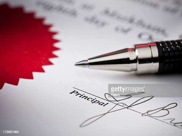 Signed contract close up