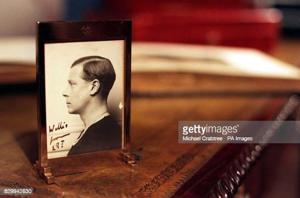 Signed portrait to Wallis Simpson of HRH The Duke of Windsor on his 'abdication desk' These and around 200 other lots from the New York sale of the...